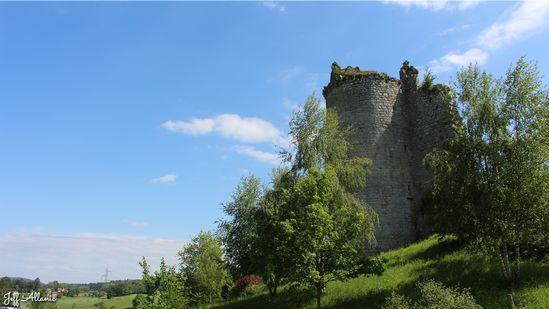 Photo fiche road-trip N° 11_273_1 - Les gorges sauvages de la Dordogne - Les ruines du château du Peyroux - Liginiac - 19160