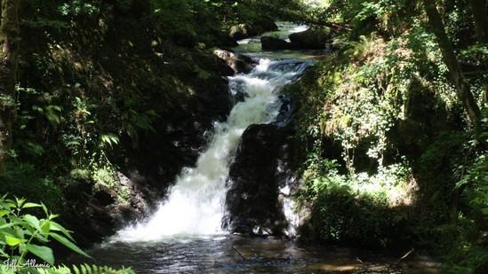 Photo fiche road-trip N° 11_83_1 - Les gorges sauvages de la Dordogne - La cascade de Vassejoux - Lapleau - 19550