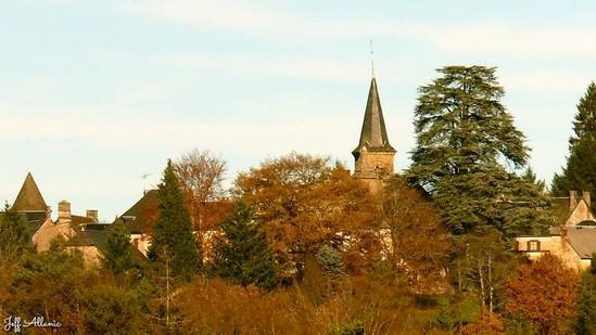 Photo fiche road-trip N° 11_89_1 - Les gorges sauvages de la Dordogne - Le village de Lapleau - Lapleau - 19550