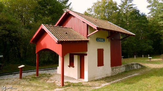 Photo fiche road-trip N° 14_1073_1 - La Corrèze plein Est c'est l'Eden - Le petite gare de Chirac-Bellevue - Mestes - 19200