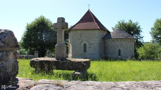 Photo fiche road-trip N° 7_28_1 - La vallée de la Dordogne  - La chapelle Saint-Hilaire-de-la-Combe - Curemonte - 19500