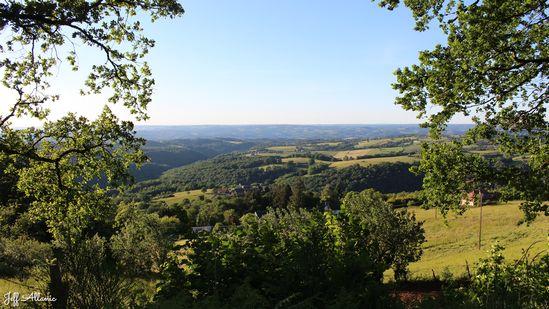 Photo fiche road-trip N° 7_291_1 - La vallée de la Dordogne  - Panorama de la Ramière - Noailhac - 19500